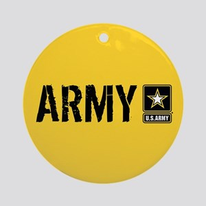 U.S. Army: Army (Gold) Round Ornament