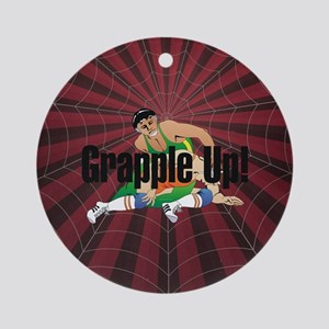 Wrestling Slogan Round Ornament