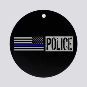 Police: Police (Black Flag, Blue Li Round Ornament