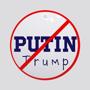 Putin/Trump, No Trump Round Ornament