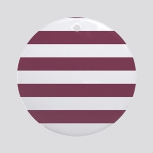 Purple, Mulberry: Stripes Pattern ( Round Ornament