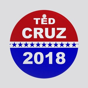 Ted Cruz Senate 2018 Round Ornament