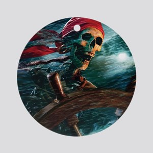 Undead Pirate Round Ornament
