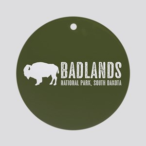 Bison: Badlands, South Dakota Round Ornament
