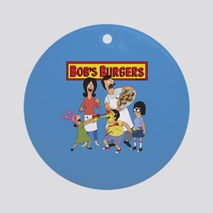 Bob's Burgers Family Round Ornament