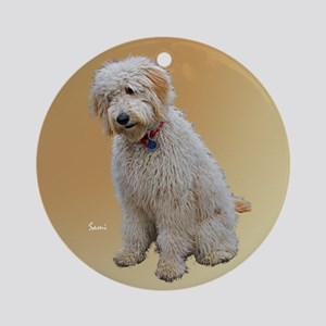 Goldendoodle: Wallace Ornament (Round)