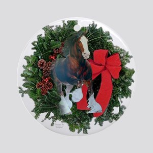 Clydesdale Horse Ornament (Round)