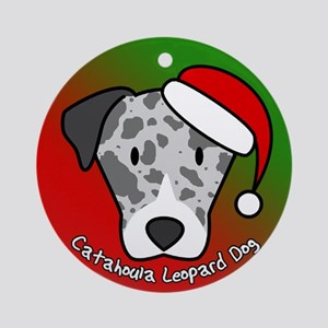 Cartoon Catahoula Leopard Dog Christmas Ornament
