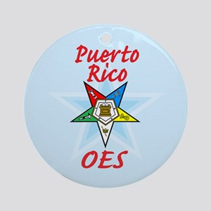 Puerto Rico Eastern Star Ornament (Round)