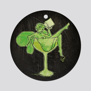 Absinthe Green Fairy In Glass Ornament (Round)