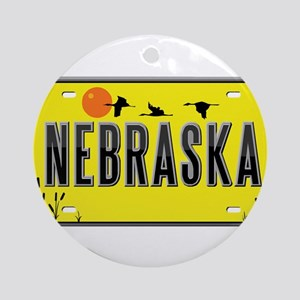 Nebraska Ornament (Round)