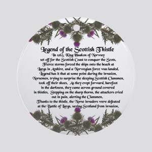 Thistle Legend Ornament (Round)
