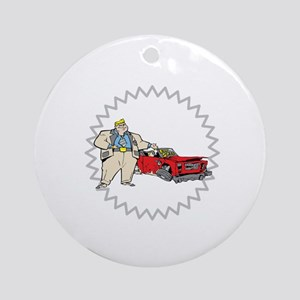 Broken Car Cartoon. Ornament (Round)