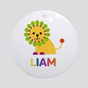 Liam Loves Lions Ornament (Round)