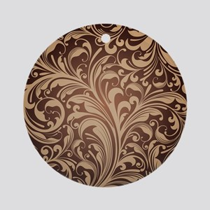 Beautiful Wallpaper Design Ornament (Round)
