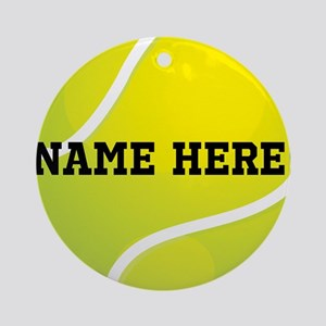 Personalized Tennis Ball Ornament (Round)