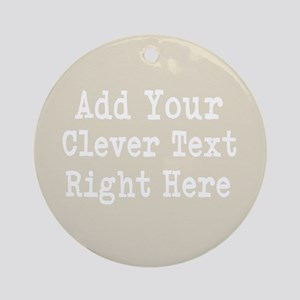 Add Text Background Gray Ornament (Round)