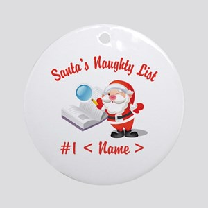 Personalized Santa's Naughty List Ornament (Round)