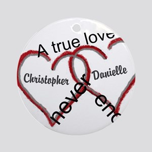 A true love story: personalize Ornament (Round)