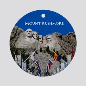 Mount Rushmore Customizable Souve Ornament (Round)
