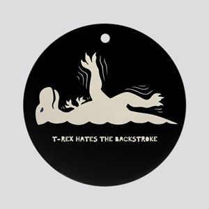 T-Rex Backstroke Ornament (Round)