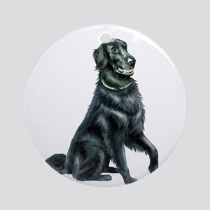 Flat Coated Retriever (B) Ornament (Round)