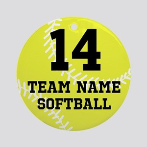 Personalize Softball Ornament (Round)