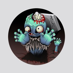 Zombie Monster Cartoon Ornament (Round)