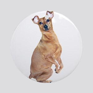 Miniature Pinscher (red) Ornament (Round)
