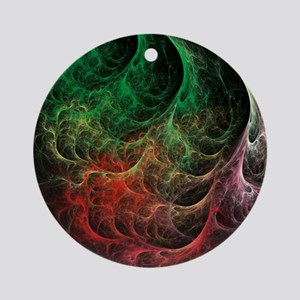 Abstract Art Space Fire Ornament (Round)