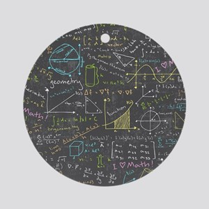 Math Lessons Ornament (Round)