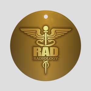 Radiology Gold Ornament (Round)