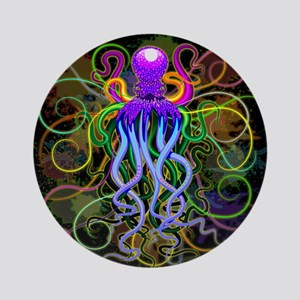 Octopus Psychedelic Luminescence Ornament (Round)