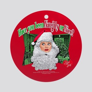 I Love Lucy: Naughty or Nice Round Ornament