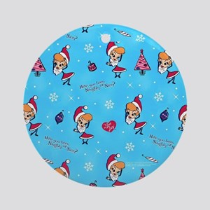 I Love Lucy: Christmas Pattern Round Ornament