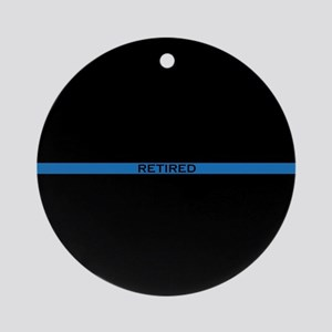 Retired Thin Blue Line Round Ornament