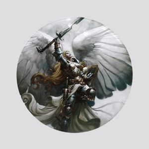 Angel Knight Round Ornament