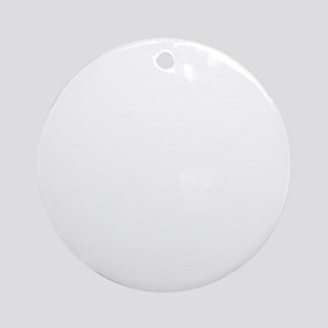 Cat Christmas Vacation Round Ornament
