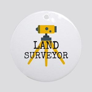 Land Surveyor Round Ornament
