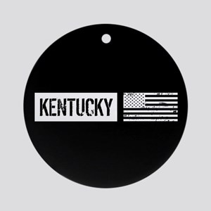 U.S. Flag: Kentucky Ornament (Round)