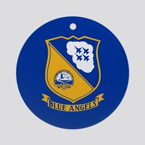 U.S. Navy Blue Angels Crest Round Ornament