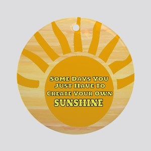 Create Your Own Sunshine Round Ornament