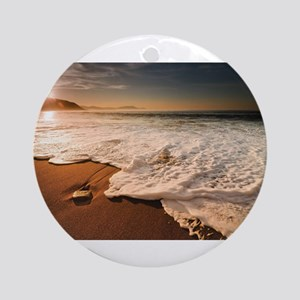 Ocean Water Round Ornament