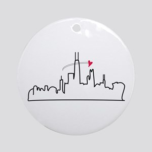 Chicago Skyline Ornament (Round)
