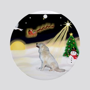 Night Flight/Pyrenees Ornament (Round)