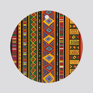 Ethnic Colorful Pattern Africa Art Ornament (Round