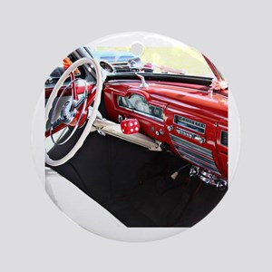 Classic car dashboard Round Ornament