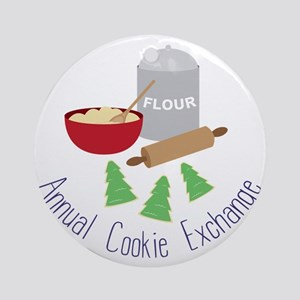 Annual Cookie Exchange Ornament (Round)