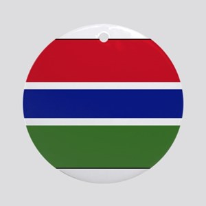 Gambia - National Flag - Current Round Ornament