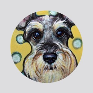 Niki the Schnauzer Ornament (Round)